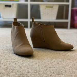 Forever 21 Nude Suede Booties
